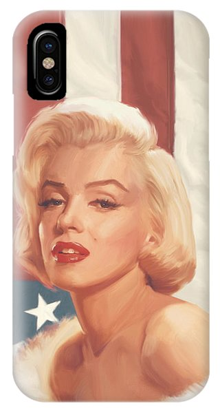 True Blue Marilyn In Flag IPhone Case