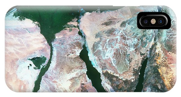Delta iPhone Case - True-colour Satellite Image Of The Nile Delta by Mda Information Systems/science Photo Library