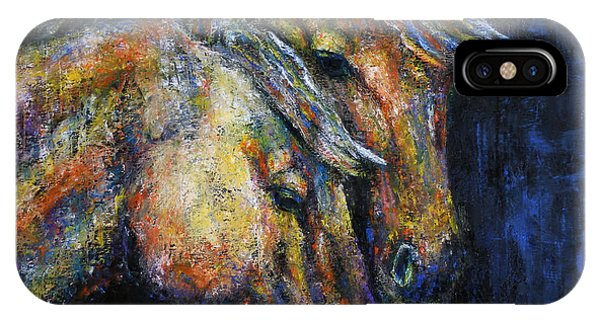 True Companions Contemporary Horse Painting IPhone Case