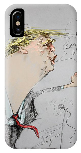 Trump In A Mission....much Ado About Nothing. IPhone Case