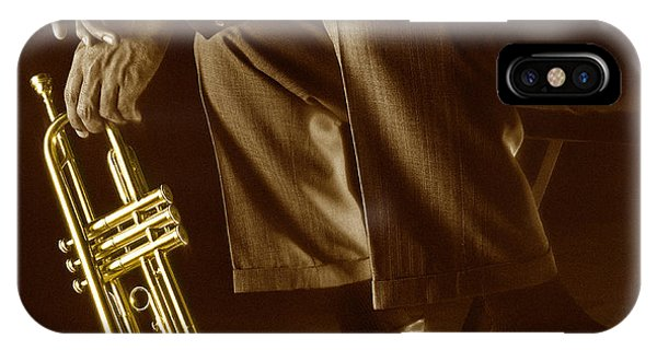 Trumpet iPhone Case - Trumpet 2 by Tony Cordoza