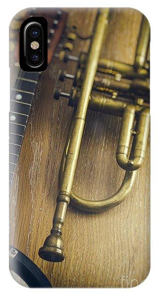 Culture Club iPhone Case - Trumpet And Banjo by Carlos Caetano