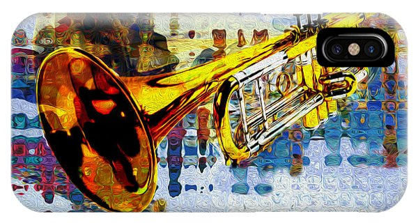 Yellow Trumpet iPhone Case - Trumpet by Jack Zulli