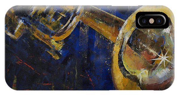 Trumpet iPhone Case - Trumpet by Michael Creese