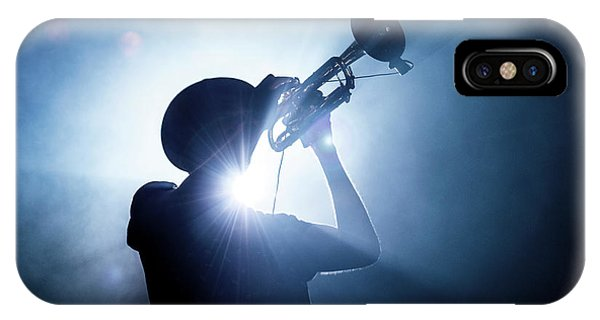 Concert iPhone Case - Trumpet Player by Erik De Klerck