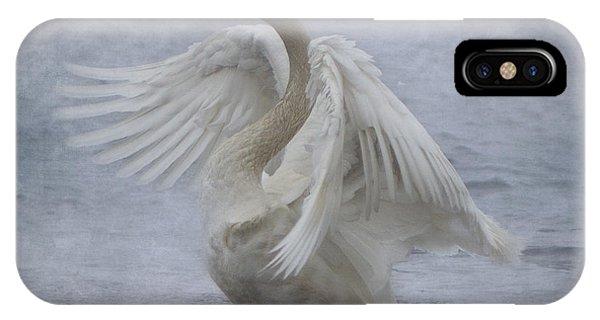 Trumpeter Swan - Misty Display IPhone Case