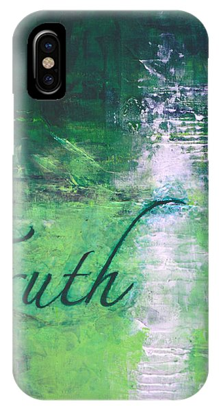 Truth - Emerald Green Abstract By Chakramoon Phone Case by Belinda Capol
