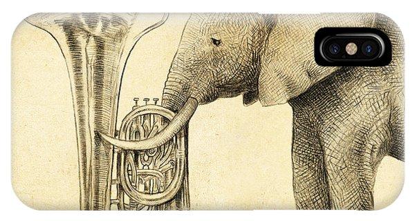 Yellow iPhone Case - Tuba by Eric Fan