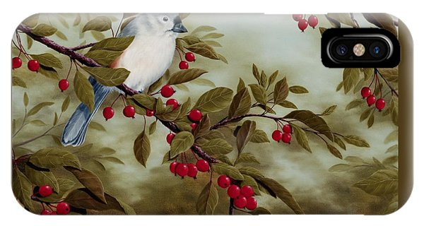 Titmouse iPhone Case - Tufted Titmouse by Rick Bainbridge