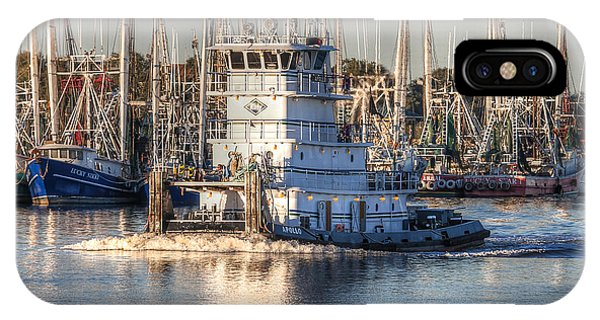 Tug Boat Apollo Port Arthur Texas IPhone Case