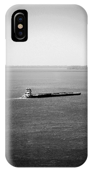 Tug Boating Up The Mississippi River IPhone Case