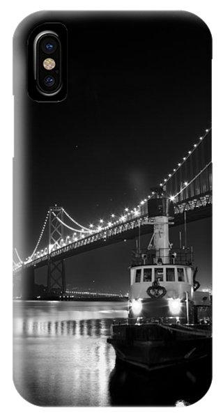 Tugboat Under The Bay Bridge IPhone Case