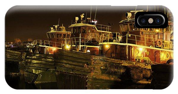 Tugboats 1st Night Dec 2013 IPhone Case