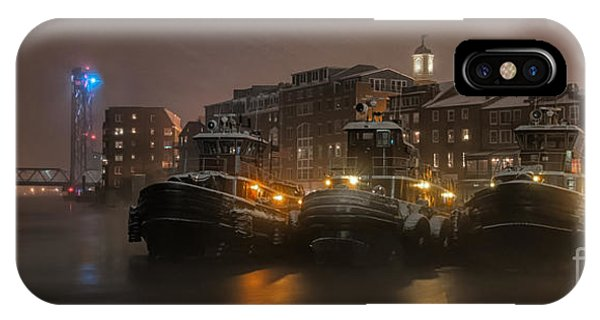 New Hampshire iPhone Case - Tugs In The Snow by Scott Thorp