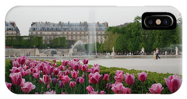 Tuileries Garden In Bloom IPhone Case
