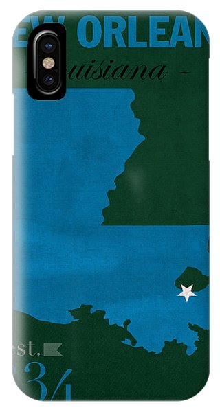 Tulane University Green Wave New Orleans Louisiana College Town State Map Poster Series No 114 IPhone Case