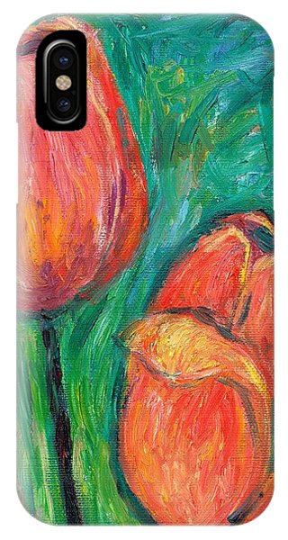 IPhone Case featuring the painting Tulip Dance by Kendall Kessler