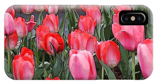 Tulip Flower Art05 IPhone Case