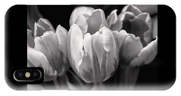 Tulip Flowers Black And White IPhone Case