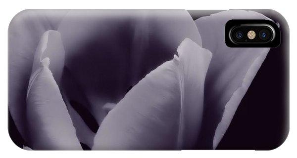 Tulip In Black And White IPhone Case