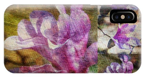 Tulip Tree Flower Collage IPhone Case