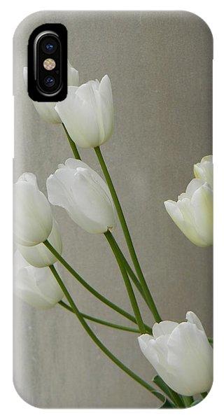 Tulips Against Pillar IPhone Case
