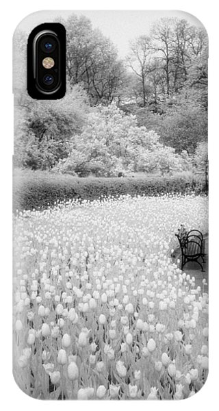 Tulips And Bench II IPhone Case