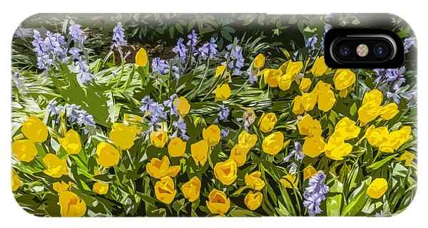 Tulips And Bluebells Phone Case by Gary Cowling