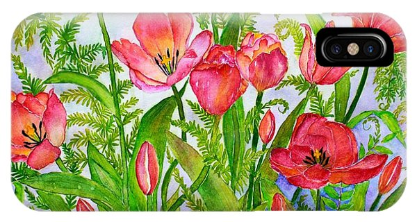 Tulips And Lacy Ferns IPhone Case