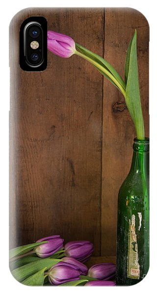 Tulips Green Bottle IPhone Case