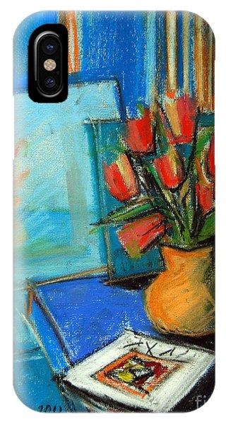 White Tulip iPhone Case - Tulips In The Mirror by Mona Edulesco