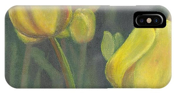 'tulips Stand' IPhone Case