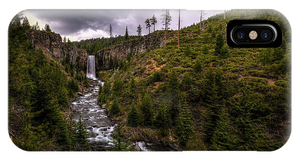 IPhone Case featuring the photograph Tumalo Falls by Matt Hanson