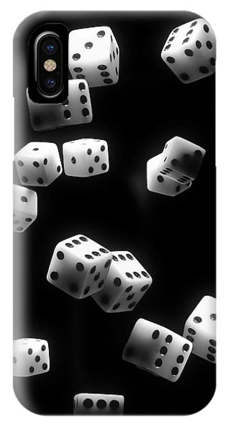 Roll iPhone Case - Tumbling Dice by Tom Mc Nemar