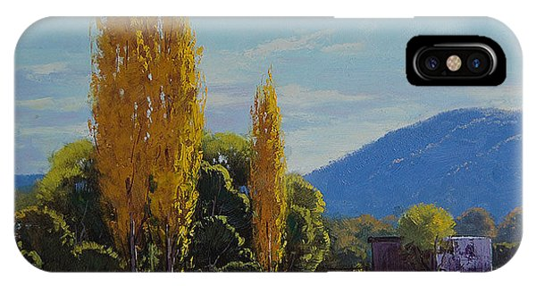 Amber iPhone Case - Tumut Farm by Graham Gercken