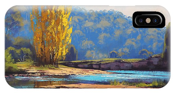 Stream iPhone Case - Tumut River Poplar by Graham Gercken