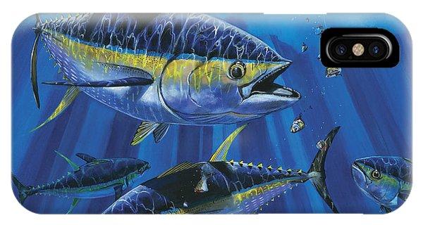 Reel iPhone Case - Tuna Blitz Off0039 by Carey Chen