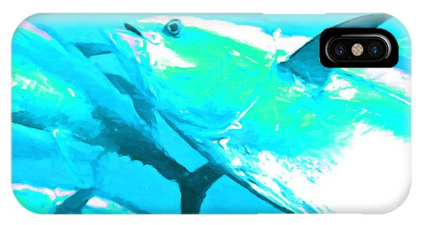 Skipjack iPhone Case - Tuna Fish P88 by Wingsdomain Art and Photography