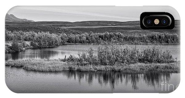 Upland iPhone Case - Tundra Pond Reflections by Priska Wettstein