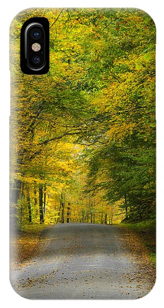 Tunnel Of Trees Rural Landscape IPhone Case