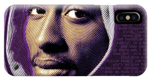Tupac Shakur And Lyrics IPhone Case