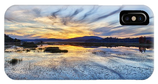 Tupper Lake Sunset Hdr 01 IPhone Case
