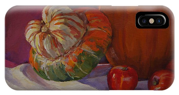 Turban Squash With Fall Friends IPhone Case