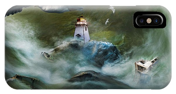 Turbulence At Irving Lighthouse IPhone Case