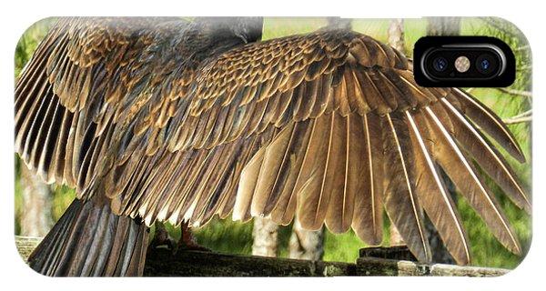 Turkey Vulture Wings Spread IPhone Case
