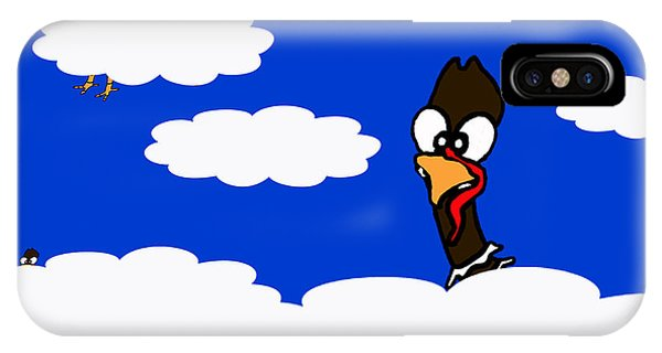 Turkeys In Flight IPhone Case