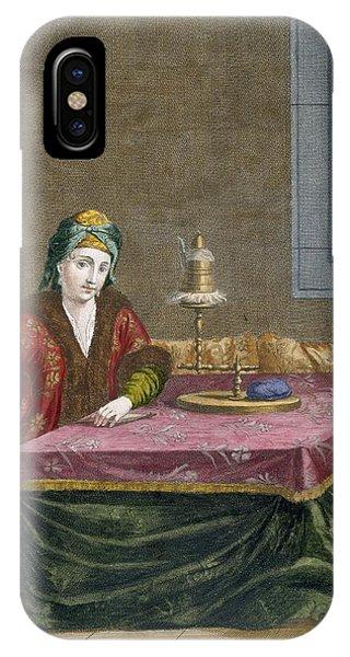 Turkish Woman Spinning Thread, C.1708 IPhone Case