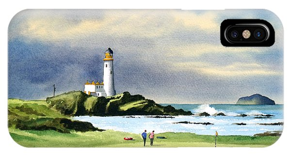 Golf iPhone Case - Turnberry Golf Course Scotland 10th Green by Bill Holkham