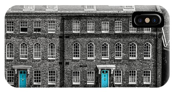 Turquoise Doors At Tower Of London's Old Hospital Block IPhone Case