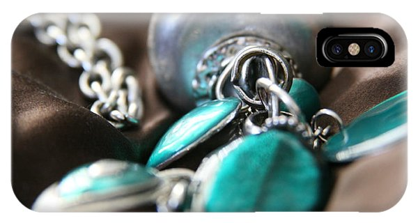 Turquoise And Silver IPhone Case